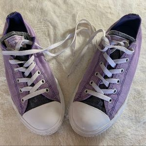 Converse All Star Purple Shimmer Sneakers Kids 5